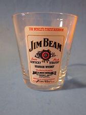 Beer Liquor Drink Glass ~*~ JIM BEAM The World's Finest Kentucky Bourbon Whiskey