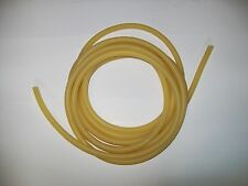 "15 feet 1/4"" I.D x 1/8"" w x 1/2"" O.D Amber Latex Rubber Tubing One Piece heavy"