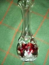 "Joe Rice Paperweight Bud Vase 7 1/4"" Tall"