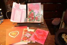 Vintage lot of 5 Valentines Day Cards 1970's 1980's 3 Unused