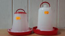 Futterautomat 1kg und Tränke 1,5L  für Geflügel Futterspender Hühner Küken Enten