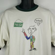 True Vintage 1995 Phish Ringer T-Shirt Size XL White Double Sided