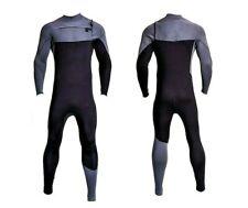 New Black Chest Zip Wetsuit 3mm Neoprene Full Body Front Zipper Surf Scuba