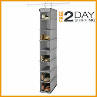 Space Saver Hanging Shoe Storage Closet Organizer Hanger Shelf Rack Gray/coffee