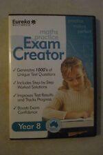 - Maths Practice Exam Creator - Year 8 [Pc Cd-Rom] Brand New