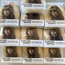 LOT of 10 New Revlon Clip Lok Bangs Hair Extension Lt Blonde Ready 2 Wear resell