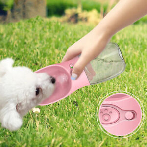 Portable Pet Dog Cat Outdoor Travel Water Bottle Feeder Drinking Fountain