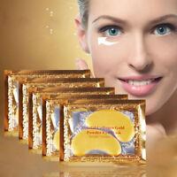 1/5 Pairs Gold Moisturizing Skin Care Gel Collagen EYE Hydrating Face Masks