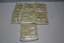 Leviton 001-86005 Combo Ivory Switch & Receptacle Plate Cover ( lot of 7 ) New