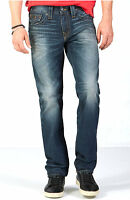 True Religion Men's Geno Relaxed Slim Straight Brand Jeans - ME08NRX6