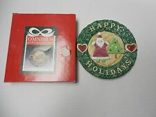 "Omnibus by Fitz and Floyd Christmas Crafts Canape Plate 8"" 2051/10"
