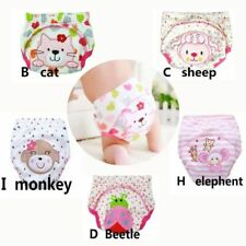 Girls Training Pants Cotton Reusable Baby Diapers Waterproof Washable Diapers