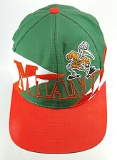 Vintage Miami Hurricanes Logo 7 Baseball Adjustable Snap-Back Hat Cap