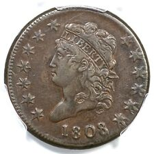 1808 S-279 Pcgs Xf 40 Classic Head Large Cent Coin 1c