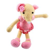 Häkelset Amigurumi häkeln Anfänger - Maus Puppe Häkelpackung DIY Puppe
