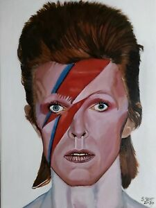 Original acrylic paintings on canvas DAVID BOWIE.
