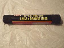 "(BLACK) Non Slip Shelf and Drawer Liner HOME/CAR/RV/BOAT/GARAGE 12""x60"" Roll"
