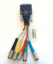"""Extron 26-531-01 6"""" VGA 15-pin HD Male to 5 BNC Female RGB RGBHV Breakout Cable"""