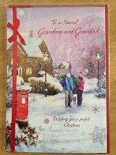 Grandma and Grandad Christmas New Year Greeting Note LARGE Card *NEW* (C63)