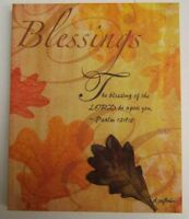 """Blessings FALL Colors Canvas Print w PSALM 129:8 Verse 7/"""" W x 9/"""" H by D Sullivan"""