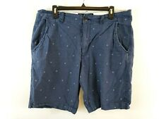American Eagle Men's Classic Fit Bermuda Shorts Size 34 Blue Casual Polka Dots