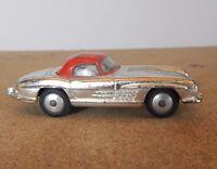 vintage Corgi 304s Mercedes Benz 300 SL Roadster  silver & red