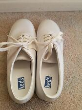 Keds Women's Size 9M White Leather Shoes