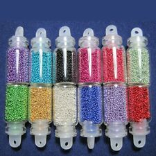 12 Colors Glitter Caviar mini Micro Beads tips 3D Nail Art Acrylic UV Gel Set