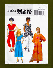 Caftan, Top, Dress, Jumpsuit Sewing Pattern~Fast & Easy (L-XXL) Butterick 5652