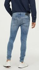H&M Men's 'SUPER Skinny' Denim Blue Jeans S-t-r-e-t-c-h 30x32 Pants **NWT**