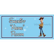 Personnalisé little shérif enfants chambre à coucher porte signe – disney toy story woody