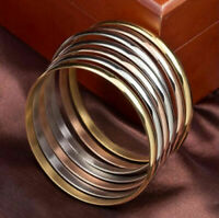 3 Colors Women Stainless Steel Multilayer Bracelet Bangle Wristband Cuff Jewelry