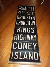 VINTAGE NYC SUBWAY R1/9 COLLECTIBLE ROLL SIGN CONEY ISLAND BROOKLYN KINGS HGWY