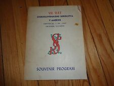 1947 Sokol Souvenir Program Chicago Czech Lawndale Local Ads