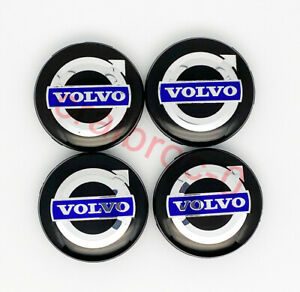 4pcs Wheel Center Cap Hub for Volvo v40 - V90 S40 S60 S80 XC60 XC70 XC90 64mm