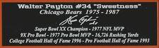 Walter Payton Autograph Nameplate Chicago Bears Autograph Jersey Ball Helmet