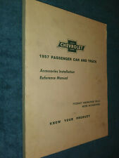 New Listing1957 Chevrolet Car & Truck Accessories Installation Shop Manual / Original!