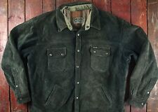 VINTAGE DIESEL pesante in pelle scamosciata controllare foderato Sport Giacca Camionista 48 XL