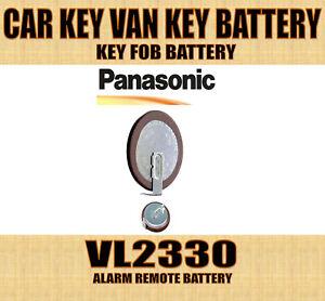 1 x Panasonic VL2330 2330 3V Car Key Van Key Remote Fob Battery