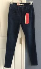 Levi Strauss & Co. Womens Blue Mid Rise Shaping Super Skinny Jeans W 26/ L32
