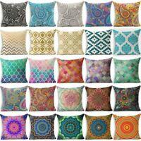 Bohemian Geometric Paisley Mandala Throw Pillowcase Cushion Cover Pillow Case