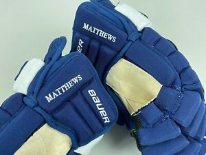 New Bauer 2N AUSTON MATTHEWS Toronto Maple Leafs NHL Pro Stock Hockey Gloves 14""