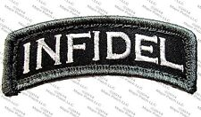 INFIDEL USA ARMY MORALE ROCKER TAB USA MILITARY ISIS TACTICAL SWAT VELCRO PATCH