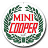 "MINI COOPER,JOHN COOPER 11"" ROUND METAL SIGN.CLASSIC / GARAGE / MAN CAVE SIGN."