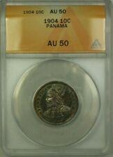 1904 Panama 10 Cent�simos Coin ANACS AU 50