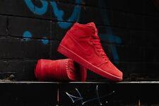 2017 Nike Air Jordan 1 Retro High OG SZ 8 Gym All Red Suede 332550-603