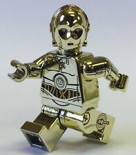 Custom Lego Star Wars Minifigure Chrome Gold C-3PO Side Printing C3PO Pad Print
