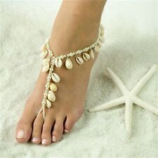 Barefoot Natural Pearl Shell Anklet Beach Sandals Ankle Chain Foot Jewelry