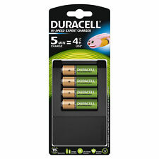 Duracell 15 Minute AA/AAA Battery Charger | Includes 4 AA 1300mAh Rechargeable B