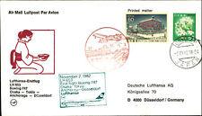 LUFTHANSA Erstflug Osaka Tokio Anchorage Düsseldorf 1982 Briefmarke Stamps Japan